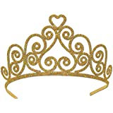 Beistle 60641-GD Gold Glittered Metal Tiara