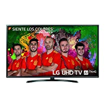 "LG 49UK6470PLC - Smart TV de 49"" (LED, UHD 4K, inteligencia artificial, HDR, Wi-Fi)Samsung TV 49MU6655 - Smart TV 49 pulgadas 4K UHD HDR (pantalla curva, resolución UHD, Quad-Core, Active Crystal Color, 3 HDMI, 2 USB, One Remote Control)"