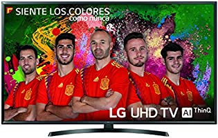 "LG 49UK6470PLC - Smart TV de 49"" (LED, UHD 4K, Inteligencia Artificial, HDR, Wi-Fi), Color Negro"