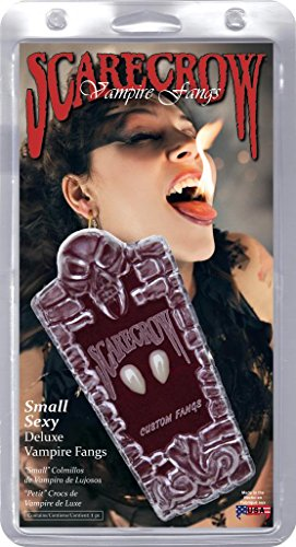 [Scarecrow Small Deluxe Fangs] (Retractable Vampire Fangs)