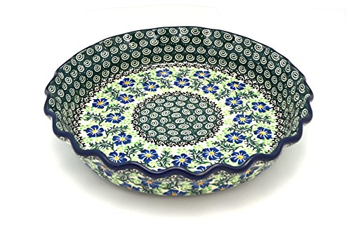 (Polish Pottery Baker - Pie Dish - Fluted - Sweet Violet )