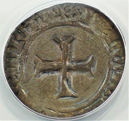 FR 1399–1422 AD France John V of Brittany Antique French Cross Coin Blanca Fine