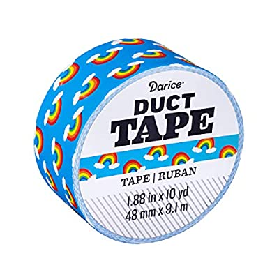 Darice Patterned Duct Tape: Rainbow Icon, 1.88 Inches x 10 Yards from Darice