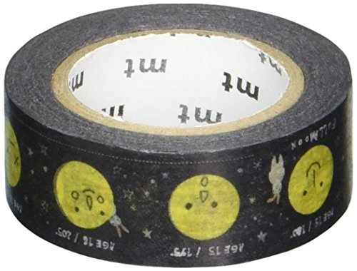 MT Washi Masking Tape for Kids, Moon, 15mm x 7m (MT01KID024)