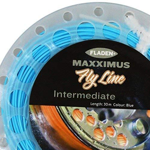 30/m - Livr/é dans une bo/îte WF7 et WF8 Fladen Ligne de p/êche /à la mouche interm/édiaire bleue de qualit/é Maxximus avec deux boucles tress/ées -