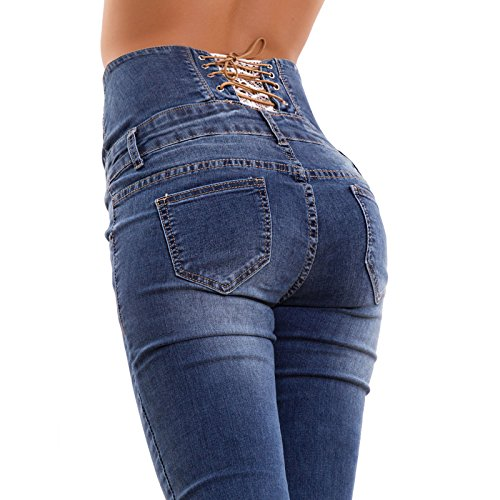 Pantaloni Vita Toocool Pizzo Blu Slim Alta Corsetto A1570 Sigaretta Skinny Nuovi Jeans Donna tqtxfE