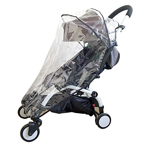 ROMIRUS Weather Shield, Rain Cover for Babyzen YOYO YOYO+ Stroller, Waterproof, Windproof, See Thru, Ventilation, Clear, Plastic, Protection, Shade, Umbrella (2018 New Version))