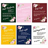 Wedding Firsts Wine Labels Set, Bridal Shower Engagement Gift, Marriage Milestone Wine Bottle Stickers, 6-Pack