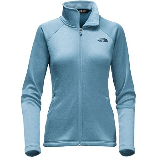 The North Face Women's Agave Full Zip Fleece Jacket - Provincial Blue Heather - L (Past Season)