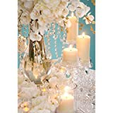 12 inch David Tutera Crystal Garland with Teardrop Accent - Clear / Silver