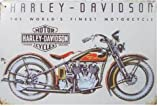 Harley Davidson : The World's Finest Motorcycle ,Metal Tin Sign, Vintage Style Wall Ornament Coffee & Bar Decor, 20 X 30 Cm.