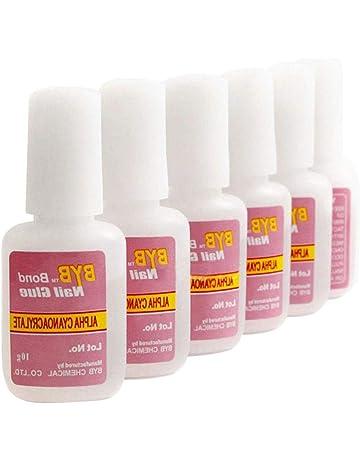 Pegamento para uñas, pegamento de uñas superfuerte, adhesivo con pincel, 5 unidades por