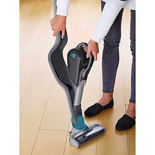 BLACK + DECKER Smartech HSVJ520JMHS61 Lithium Ion Cordless 2-in-1 Stick Vacuum Cleaner (Black And Decker Sweeper Bags compare prices)