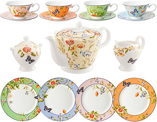 Aynsley Cottage Garden 15 Piece Tea Set (Mixed Colours)