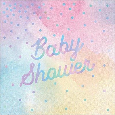 Baby Shower Iridescent Lunch Napkins 32 ()