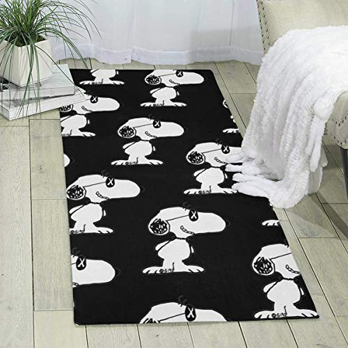 Snoopy (3) Yoga Mat Area Rug - Non Skid Throw Pad Runners Carpet Home Decor for Kitchen Entryway Hallway Bedroom Office - 71