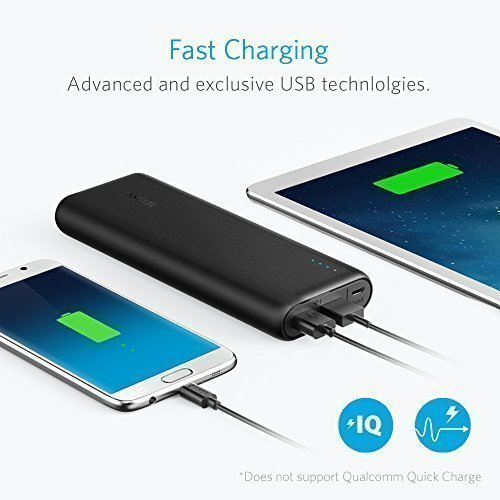 Anker PowerCore Portable Charger 15600mAh with 4.8A Output, PowerIQ and VoltageBoost Technology, Power Bank for iPhone iPad & Samsung