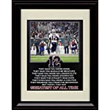 Framed Tom Brady 8x10 Print - Greatest of All Time - GOAT!