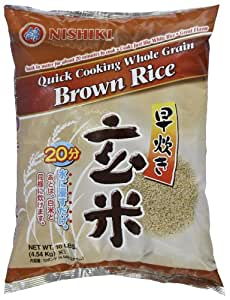 Nishiki Quick Cooking Brown Rice, 10-Pounds