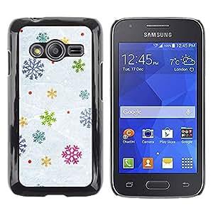 rígido protector delgado Shell Prima Delgada Casa Carcasa Funda Case Bandera Cover Armor para Samsung Galaxy Ace 4 G313 SM-G313F /Snow Winter Gift Christmas/ STRONG