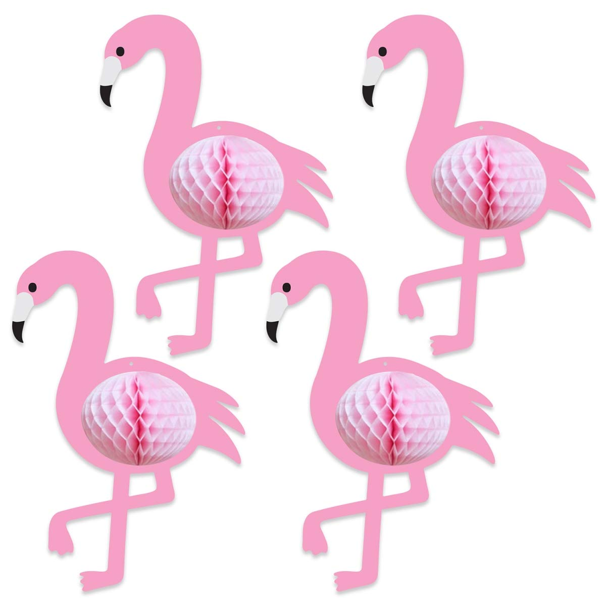 Beistle 53568 10 x 7 in. Tissue Flamingos - Pack of 12 by Beistle (Image #1)
