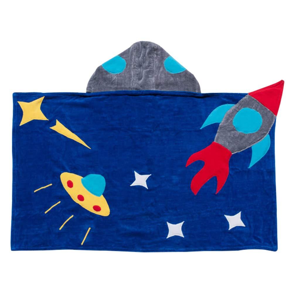 Kidorable Boys' Space Hero Towel, Blue, Medium by Kidorable