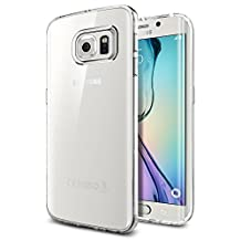Spigen Liquid Crystal Galaxy S6 Edge Case with Slim Protection Soft Clear Case for Samsubg Galaxy S6 Edge 2015 - Crystal Clear