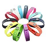 GinCoband 12PCS Fitbit Flex Wristband Replacement Accessory with Clasp for Fitbit Flex Bracelet Sport Arm Band No Tracker (Set of 12, Large)