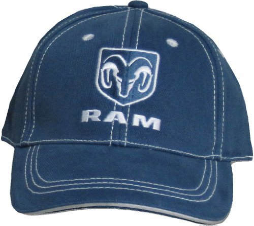 - Dodge Ram Cap - Adjustable Adult Hat - One Size (Blue)