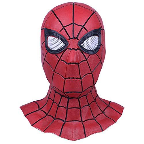 Shancon Iron Cosplay Spider Masks Latex Full Head Hood Props Costume Halloween -
