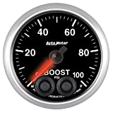 Auto Meter 5606 Elite 2-1/16'' 0-100 PSI Full Sweep Electric Boost Gauge