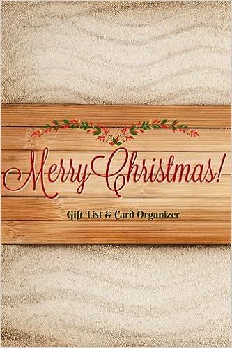 Family Christmas Gift Lists.Merry Christmas Gift List And Card Organizer Keep Track Of