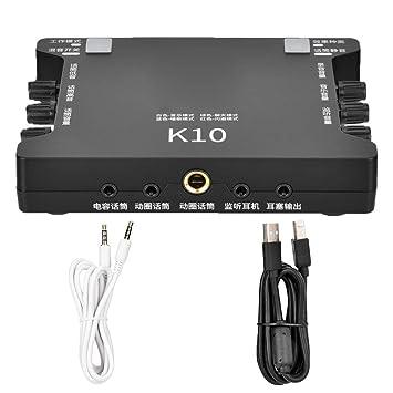 Tosuny Tarjeta de Sonido en Vivo Portátil, USB Tarjeta de ...