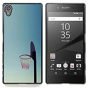 """Qstar Arte & diseño plástico duro Fundas Cover Cubre Hard Case Cover para Sony Xperia Z5 5.2 Inch (Not for Z5 Premium 5.5 Inch) (Cancha de Baloncesto aro"""")"""
