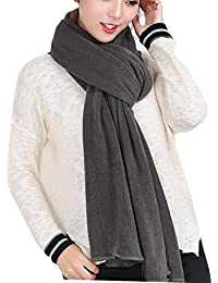 Women's Warm Long Shawl Winter Warm Large Scarf Pure Color