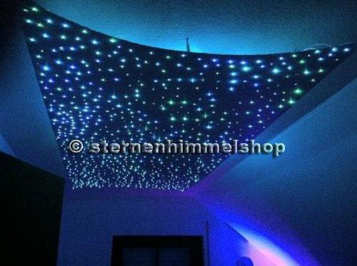 Rgb led 16 w cielo stelle fibra ottica luce effetto di illuminazione