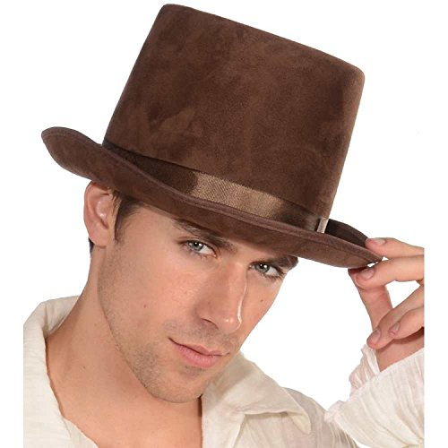 [Deluxe Brown Top Hat] (Steampunk Costumes Men)