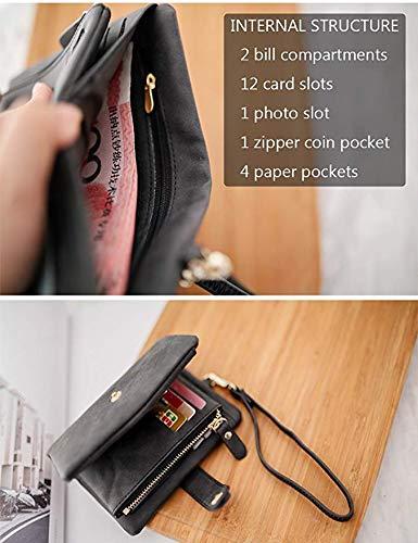 avec Carte Noir Volets ALAIX Crédit Pour Organisateur de Anti Support Cuir Bracelet Souple à RFID Femme Trois de Petite q0a7Bf01wx