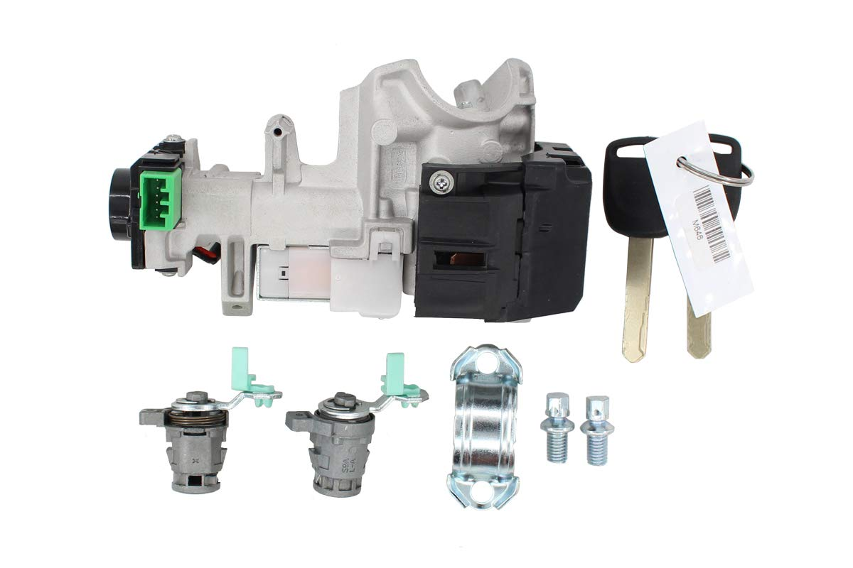 New and Complete Set Ignition Switch Cylinder Door Lock with 2 Keys for 02-06 Honda CRV MOTOKU