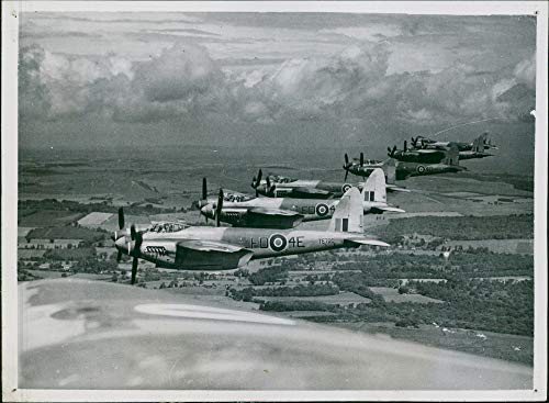 Mosquito Engine Twin (Vintage photo of de Havilland Mosquito Combat aircraft:the royal noval.)