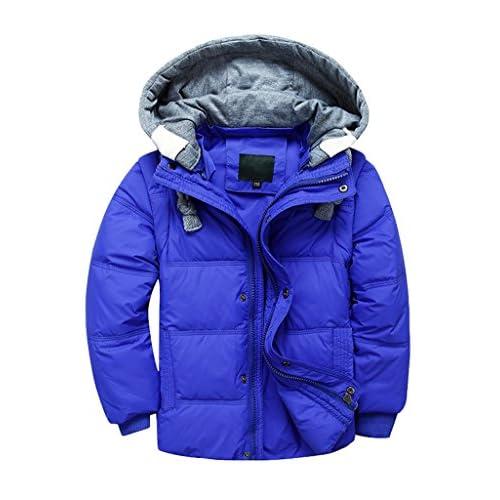 502bd5d58 YoungSoul Chaqueta de plumas para niña y niño abrigo con capucha  desmontable chalecos sin mangas cazadoras