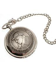 Pocket watch - Solid pewter fronted mechanical skeleton pocket watch - Sherlock Holmes design 40