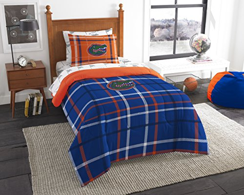 NCAA Florida Gators Soft & Cozy 5-Piece Twin Size Bed in a Bag Set - Florida Bed Set