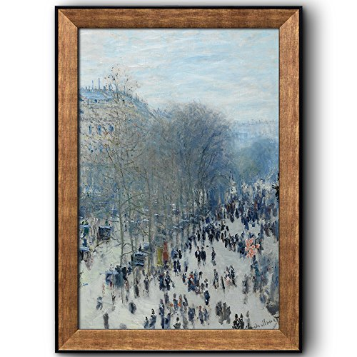 Boulevard des Capucines by Claude Monet Framed Art