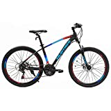 Murtisol Aluminum Mountain Bike 26'' Hybrid Bicycle with Dual Disc Brake, 21 Speeds Derailleur, Light Weight Frame, Suspension Fork, Adjustable Seat in 3 Colors