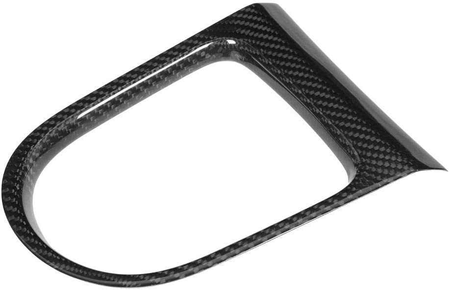 Gear Panel Trim,Carbon Fiber Interior Gear Shift Panel Cover Trim Sticker Fit for Ford Mustang All Model 14-18
