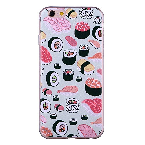 Display Sushi Case (For iPhone 6/iPhone 6s Case, ZQ-Link® Ultra Slim Soft TPU Case Skin Cover Protective Bumper Case for Apple iPhone 6 / iPhone 6s 4.7 inch Sushi Design)