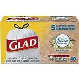Glad OdorShield Drawstring Tall Kitchen Trash Bags, Fresh Vanilla, 13 Gallon, 40 Count (Packaging May Vary)