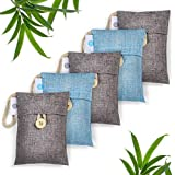 Set Of 5 Bamboo Charcoal Bags AKA Activated Charcoal Bags, Bamboo Charcoal Air Purifying Bag, Air Purifying Bags…