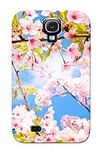 Freshmilk Anti-scratch And Shatterproof Sakura Blossom Branch Spring Phone Case For Galaxy S4/ High Quality Tpu Case
